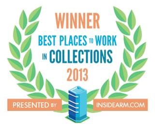 2013 Best Places in Collections - InsideArm Logo